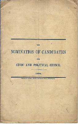 1868 Booklet, Nomination of Candidates for Political Office