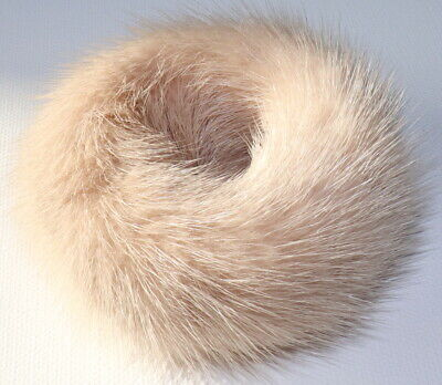 Mink Hair Bands fur Bracelet Cuff Hair Accessories Hair Band Rubber Rose Nude