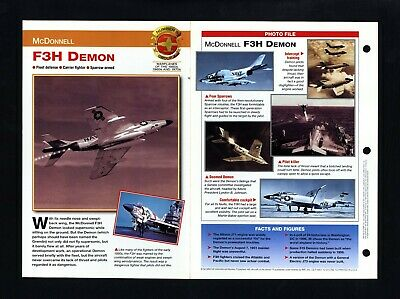 """Vintage Color 8X10 Drawings McDonnell Aircraft Corporation Print  /""""F3H-2N DEMON/"""""""