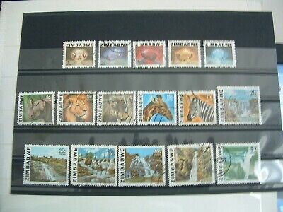 ZIMBABWE - 1980 Gems & Animals Full Set of 16 fine used - low start to sell