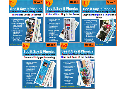 Teach your child to read  see it say it phonics books 1 to 5