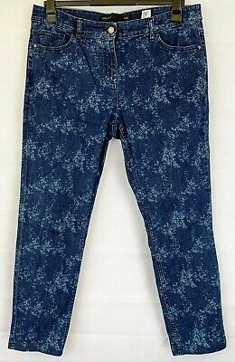 NEXT Womens Blue Floral Skinny Jeans Size 16