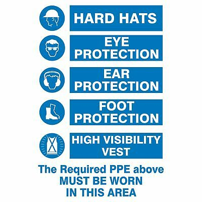 Multi-Condition PPE Signs -  MANDATORY PPE PREMISES SIGN