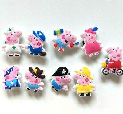Pig Characters Crocs / Mule / Clog Shoe Charms  / Cake Toppers Us Seller