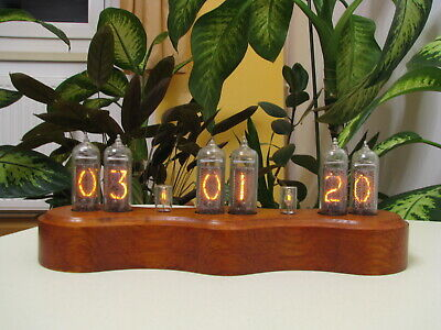 Snowman by Monjibox Nixie Clock IN14 tubes wooden case