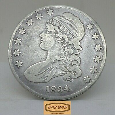 1834 Capped Bust Silver Half Dollar 50 Cents - #B17639