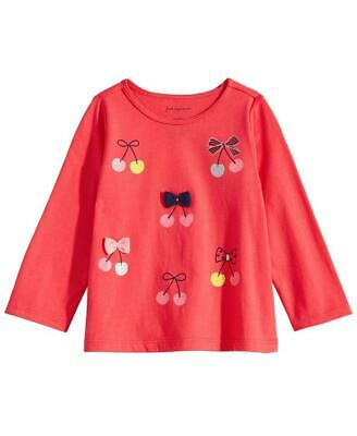 Top MSRP $13 NWT First Impressions Baby Girl Poodles Print Long Sleeve T-Shirt