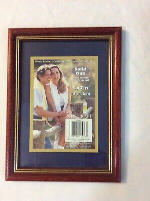 Solid Oak Wood 5 x 7 Photo Picture Frame Used