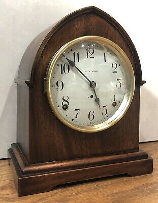 Seth Thomas Beehive Tombstone 8 Day Prospect Matel Table Shelf Clock