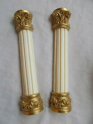 Antique style dolls house Colunms / Pillers White & Gold