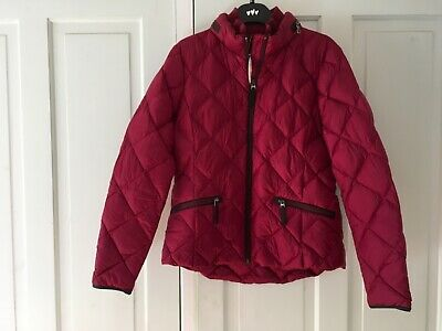 M/&S PETITE Warm QUILTED Hooded PARKA JACKET with STORMWEAR ~ Size 12 ~ KHAKI