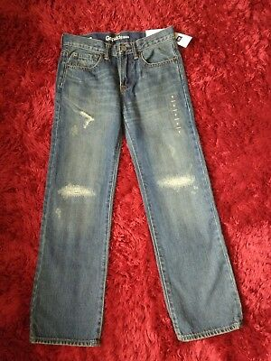 GAP KIDS BOYS DENIM TROUSERS SIZE 8 YEARS BNWT adjustable waist straight fit