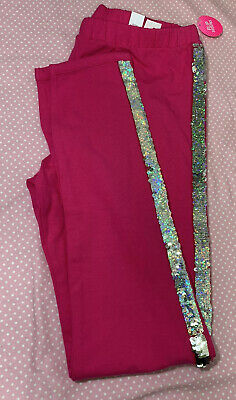 NWT The Childrens Place Pink Sequin Leggings Girls Size XXL/16