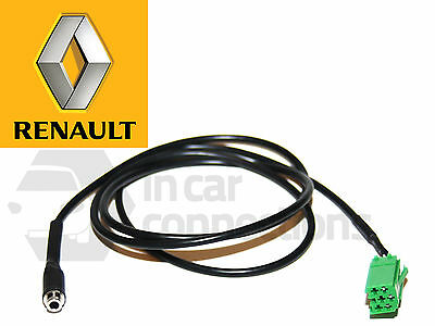 CT29RN02 RENAULT AUX LEAD IN TO 3.5MM JACK INPUT IPOD IPHONE HTC TABLETS CAR VAN