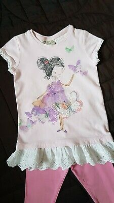 Girls Tunic Top And Leggings Outfit 2-3 Years Next/George
