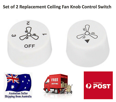 2x Ceiling Fan Control Switch Knobs Replacement *Suits Many Ceiling Fans*