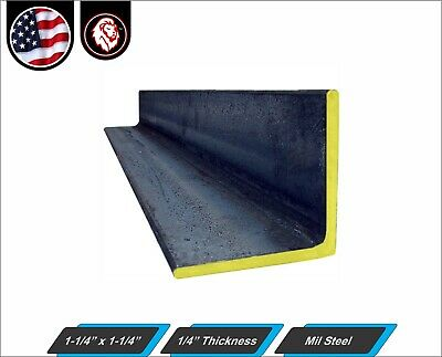 """1-1/4"""" x 1-1/4"""" - Mild Steel Angle - 1/4"""" thickness - 48"""" Inch Long"""