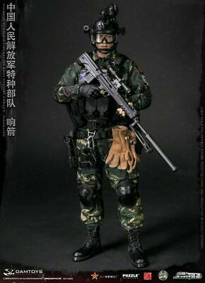 1//6 Asian Special Forces Township Rustic Male Head Carving For 12 Inches