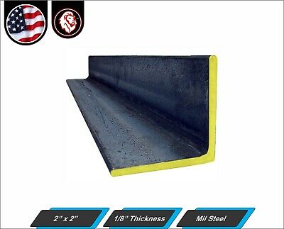 """2"""" x 2"""" - Mild Steel Angle - 1/8"""" thickness - 48"""" Inch Long"""