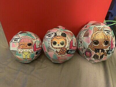 💕IN HAND New LOL Surprise GLITTER GLOBE LILS SISTERS FLUFFY PETS Winter Disco💕