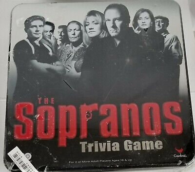 The Sopranos Trivia Game HBO Board Games Collectors Metal Tin New, Sealed