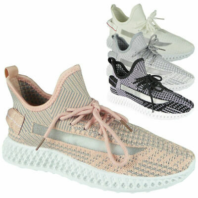 Womens Trainers Ladies Sneakers Slip On Lace Up Comfy Jogging Gym Pumps Shoes
