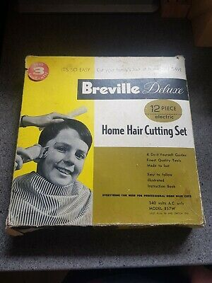 CLIPPERS vintage Breville Solid Small Electric Hair Clipper 1960's in box 12pc