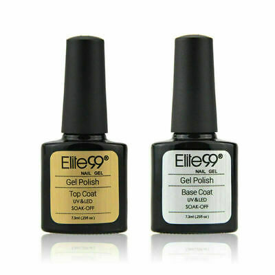 Elite99 Soak Off Top Coat & Base Coat Nail Gel Polish UV LED Manicure Lacquer