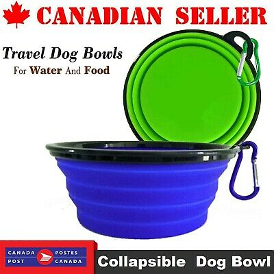 Portable Pet Dog Cat Silicone Bowl Collapsible Travel Feeding Water Dish Feeder