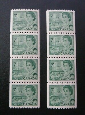 "CANADA STAMPS  #549 1971  .7c MINT ""QE2 CENTENNIAL DEFINITIVE COIL STRIPS"""