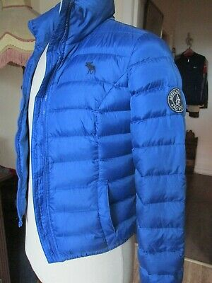 "Blue Abercrombie & Fitch  Puffer Blue Jacket  sized M [ 36"" Chest ] 14+"