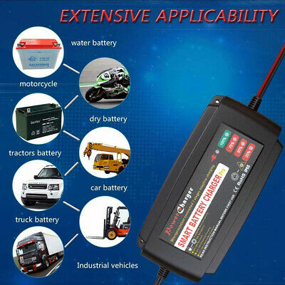 Automatic Electronic Car Battery Charger 12V Fast/Trickle/Pulse Modes 5A 5 Stage