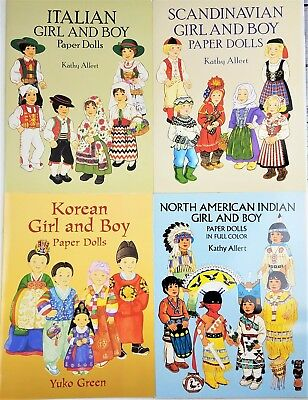New Uncut North American Indian /& SW Indian Girl /& Boy Papet Dolls