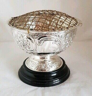 Edwardian sterling silver Rose bowl & Cover. Sheffield 1901.By Wakely & Wheeler