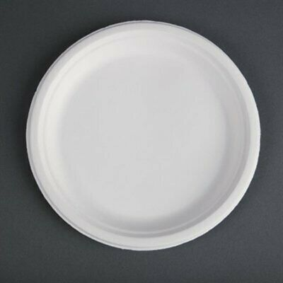 Fiesta Green Compostable Bagasse Plates Round 260mm (Pack of 50) (Pack of 50) CW