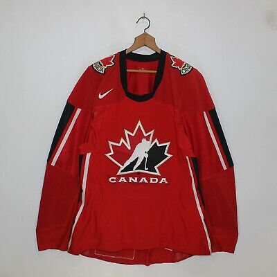 2006 Team Canada IIHF Juniors Authentic Nike Fight Strap Hockey Jersey Size 54