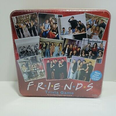 Friends TV Show Trivia Board Game Red Tin - NEW, SEALED!