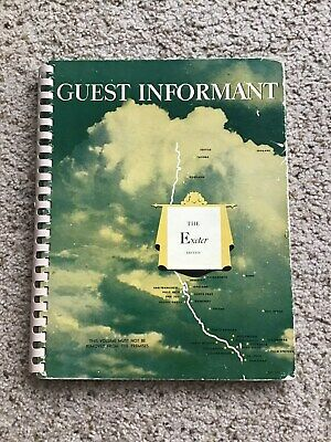 1948-49  winter The Guest Informant from Seattle to los Angles spiril bound cata