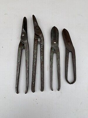 Lot Of 4 Vintage Tin Snips; Old Tool; Collectable; Gilbow; Ward