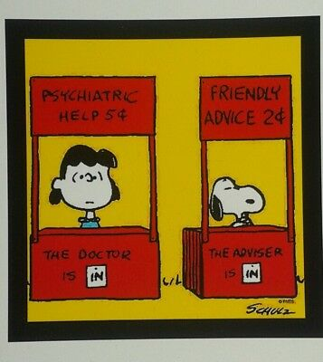 PEANUTS ♡ Snoopy & Lucy ♡  MAGNET ♡  Friendly Advice 2cents