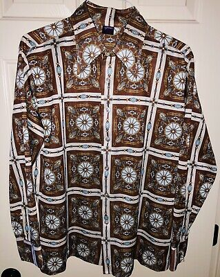 Rare Authentic JOEL CALIFORNIA Western Retro Club Shirt 60's-70's XL ~Excellent~