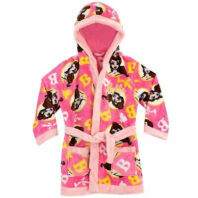 Disney Beauty & The Beast Robe | Belle Dressing Gown Girls 6-7 & 7-8 years Pink