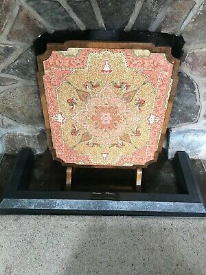 Antique Walnut Davrard Games Table Fire Screen Metamorphic Occasional Table