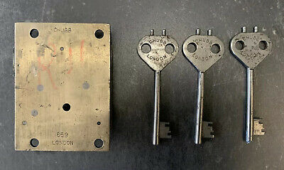 GPO-British-London-chubb-Royal Mail-wall-not Pillar-post Box Lock