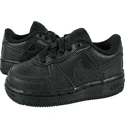 Youth Size 5.5Y Black White Nike Air Force 1 High Top Leather Shoes 653998 010