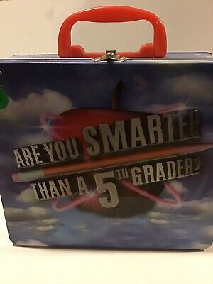 Are You Smarter Then A Fifth Grader game in lunchbox tin