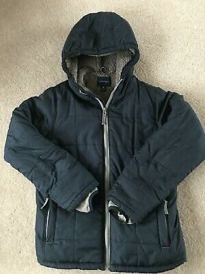 Lands End warm navy blue coat age 10-11 years very good condition