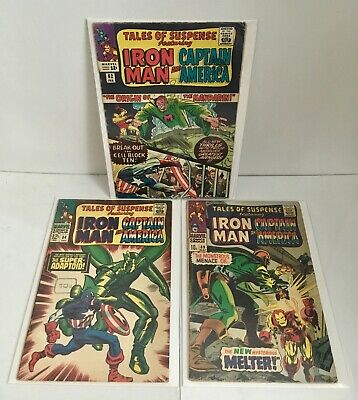 Lot of 3 Tales of Suspense #62, 84, 89 Iron Man Captain America Stan Lee - FR/GD