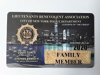 1  Authentic 2020 Lba  Lieutenants  Family Member Card  Not Cea Sba Dea Pb Card