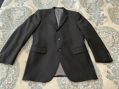 Peter Millar Men's 42T Black 100% Wool Blazer Jacket Sport Coat 2 Button Tall